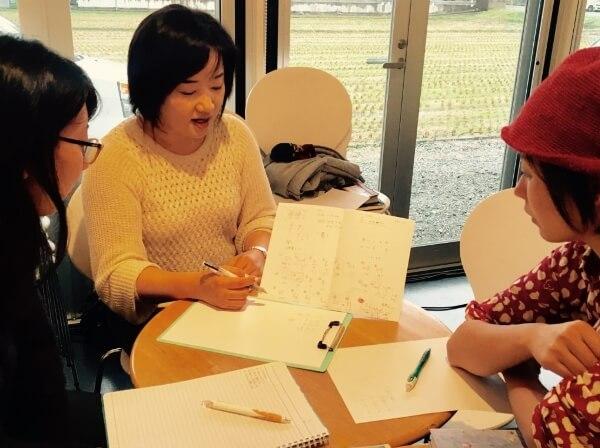 クロスロードチャーチ岡山・韓国語教室の授業の様子写真