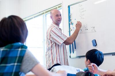 クロスロードチャーチ岡山・SUNDAY英会話教室の授業の様子写真