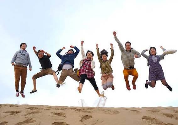 クロスロードチャーチ岡山(キリスト教会)グループフェローシップ・ユースの活動写真(ジャンプ)