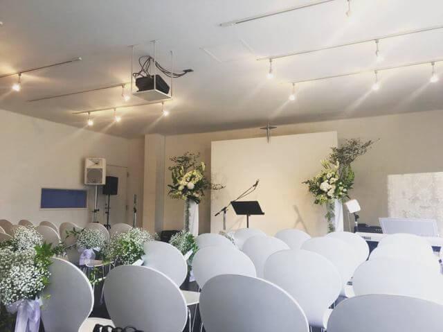 クロスロードチャーチ岡山(キリスト教会)「ウエディング」実際の結婚式場の様子写真